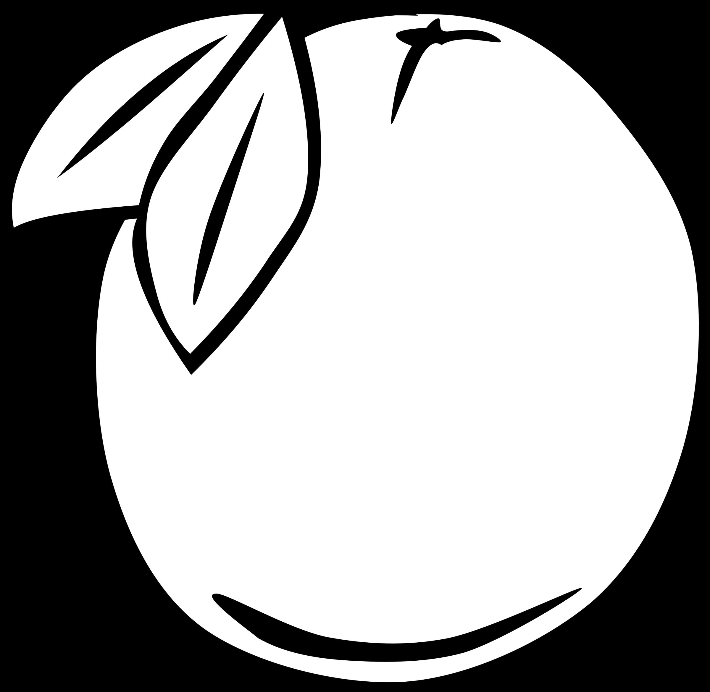 Simple orange big image. Fruit clipart template