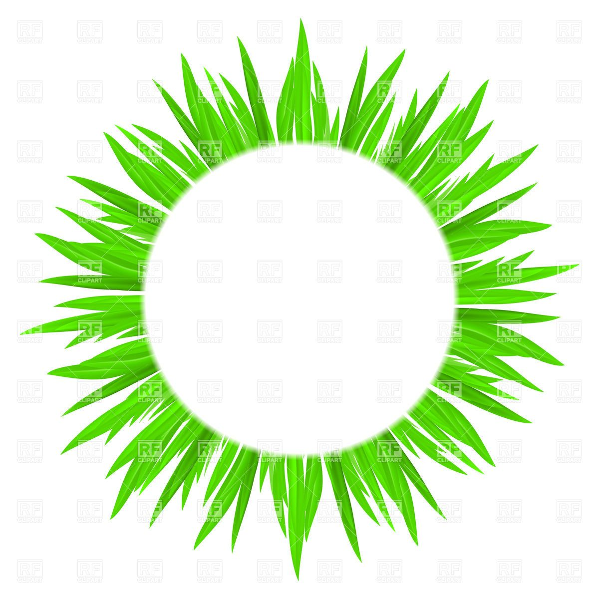 Green frame criket projects. Clipart grass circle