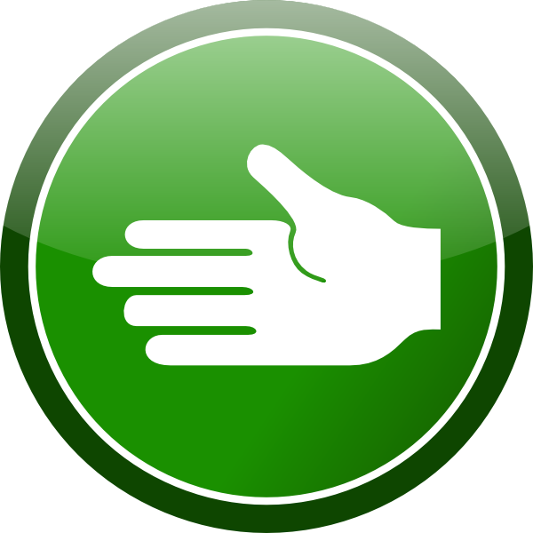 Handshake clipart circle. Green hand sign clip