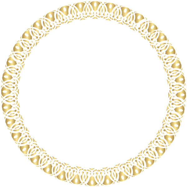 Round transparent clip art. Gold circle frame png