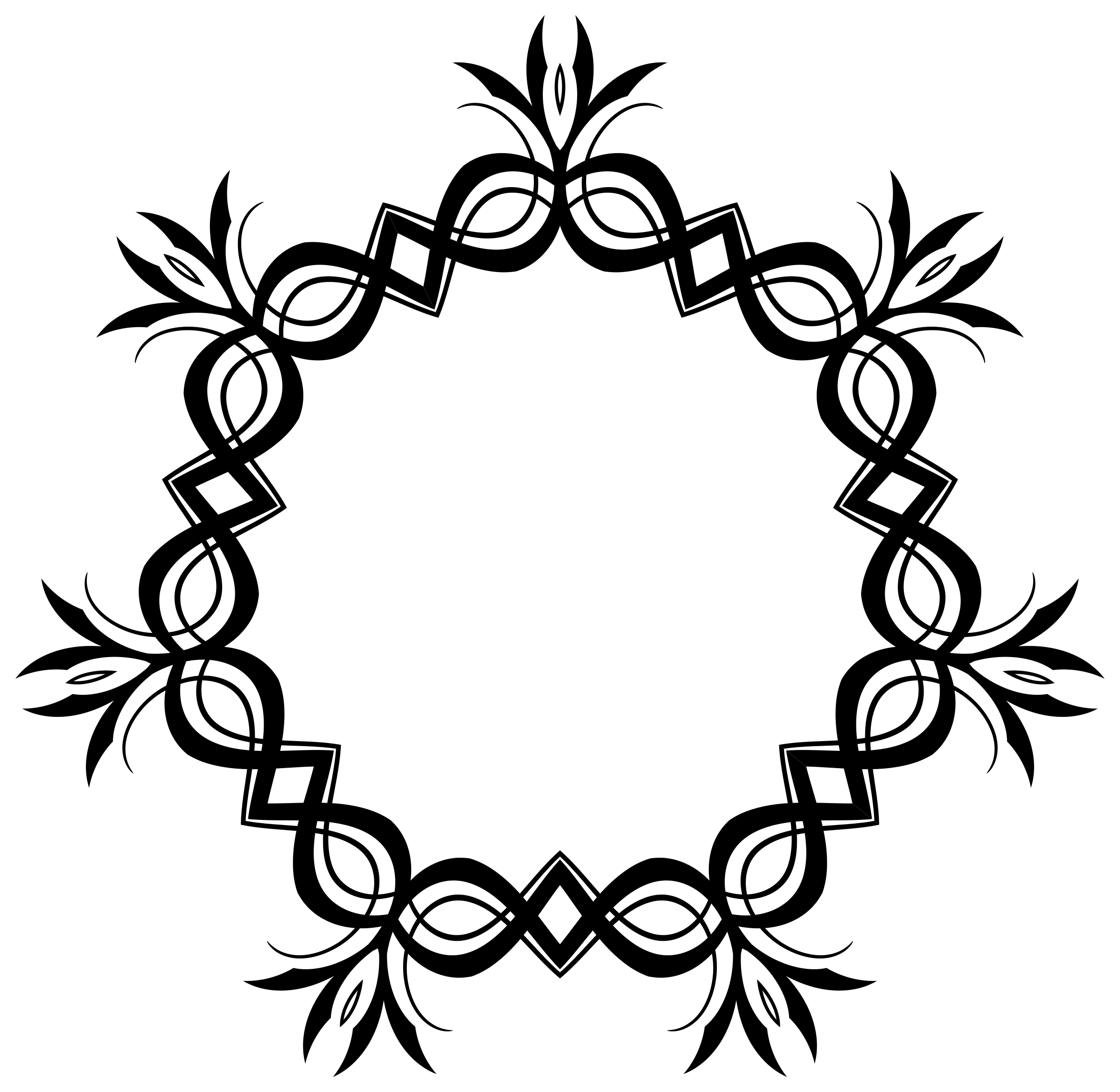 Clipart circle leaf. Round frame big image