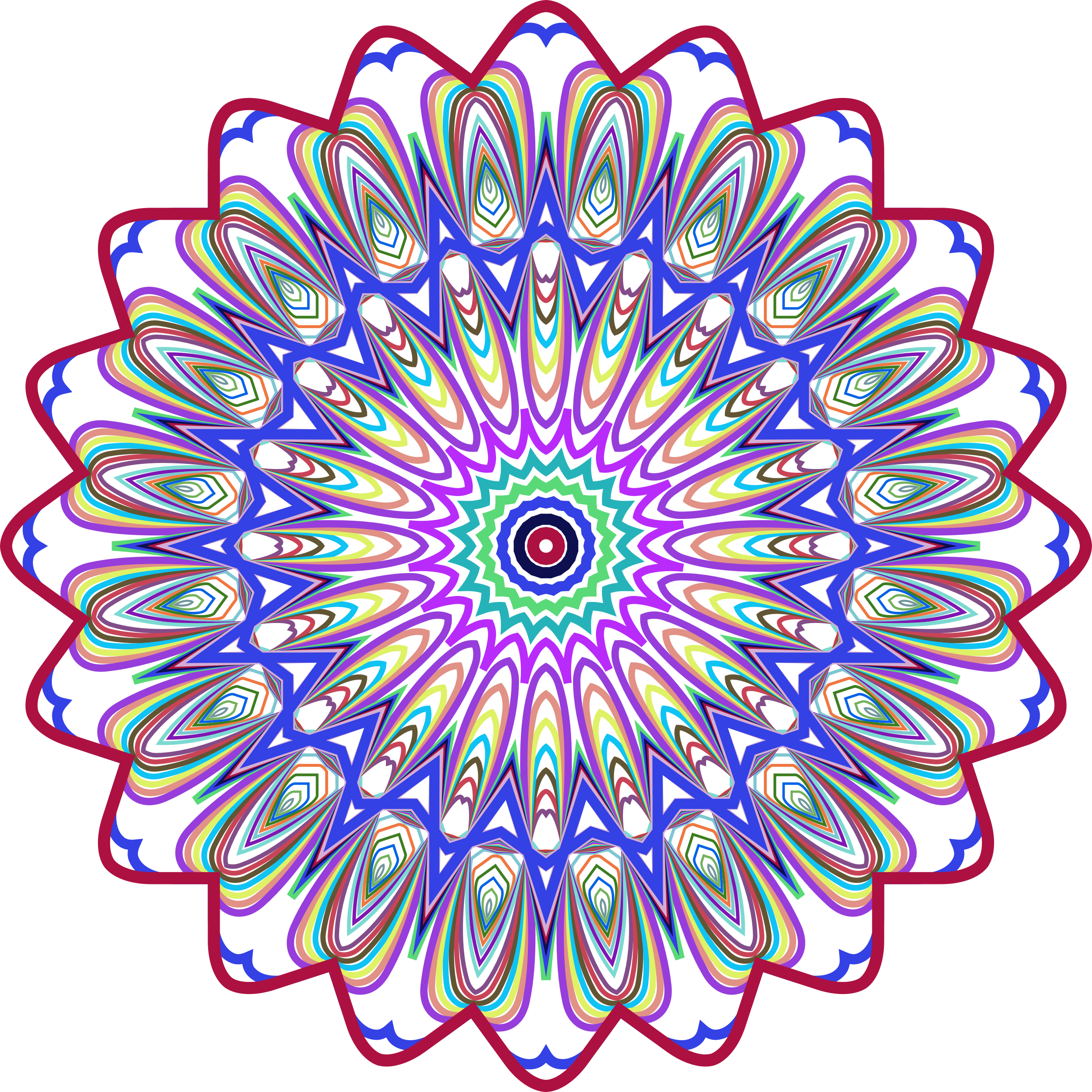 Design clipart background.  collection of mandala