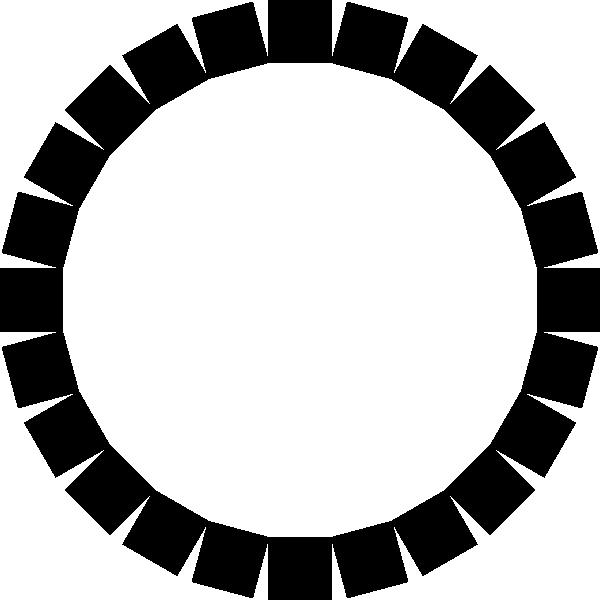 Square clipart circle shape. Of squares clip art