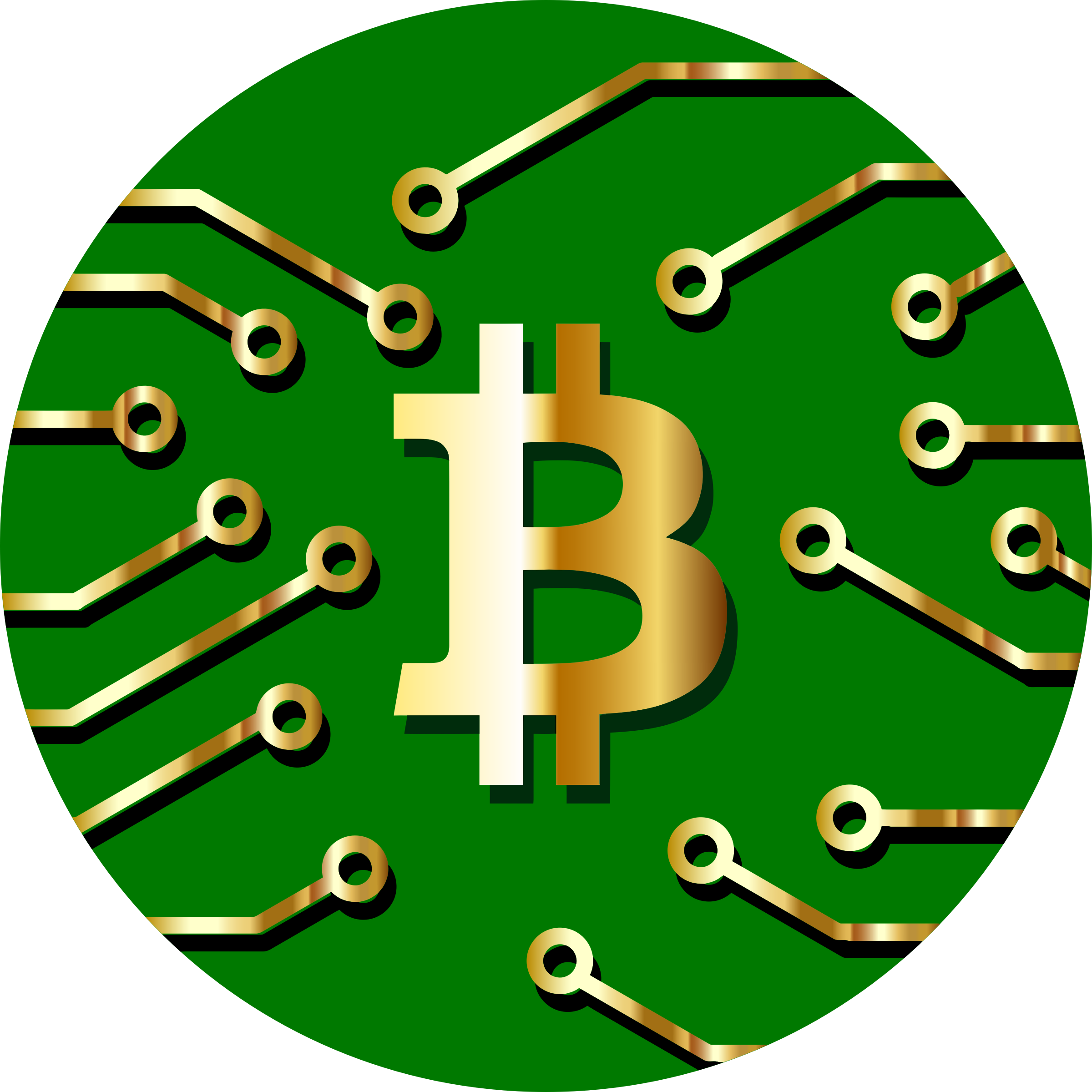 Bitcoin currency gold big. Clipart circle money