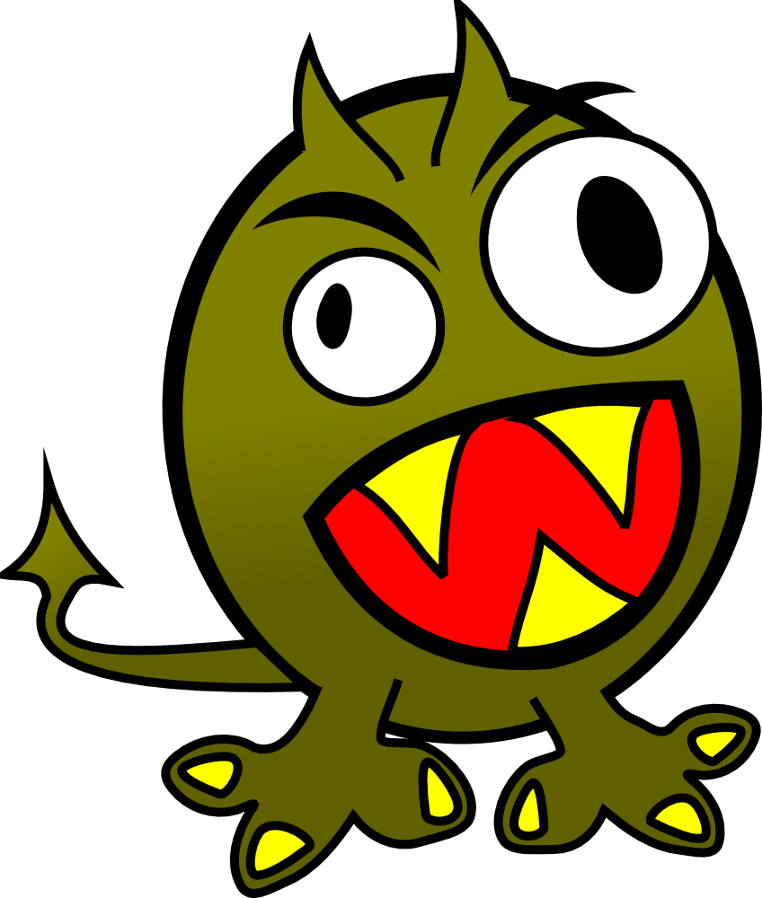 Onlinelabels clip art small. Monster clipart 3 eye