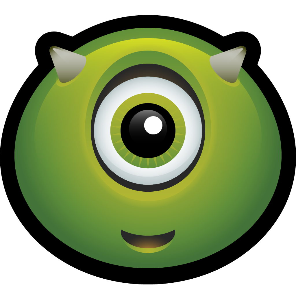 Horn icon . Zombie clipart scary halloween monsters