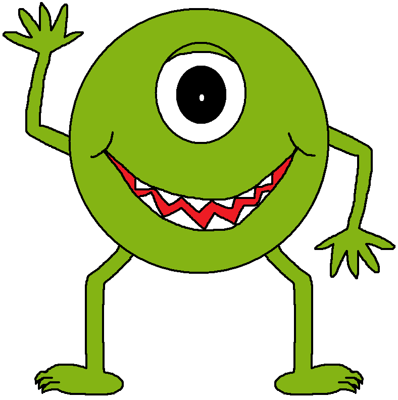 Footsteps clipart animated. Monster