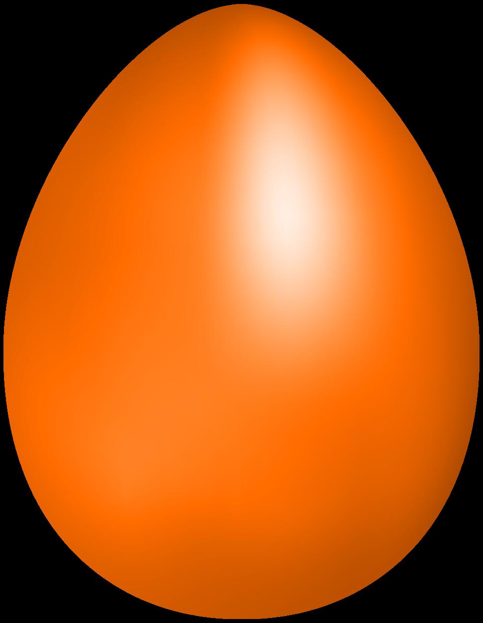 Orange clip art . Clipart png easter egg