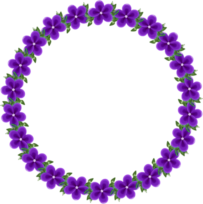 Transparent with violets gallery. Frame clipart round