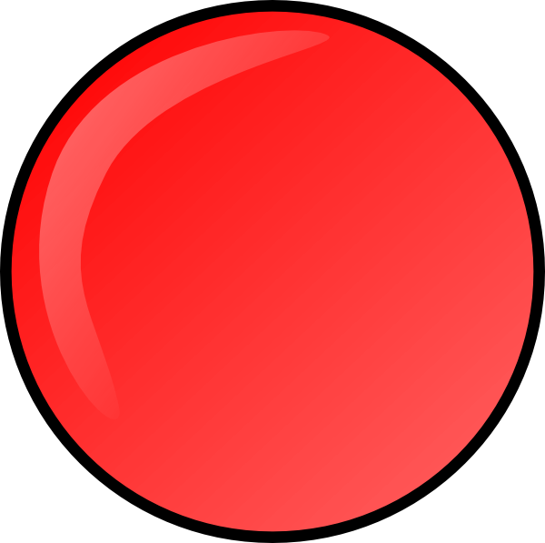 Dot clipart round. Red button clip art