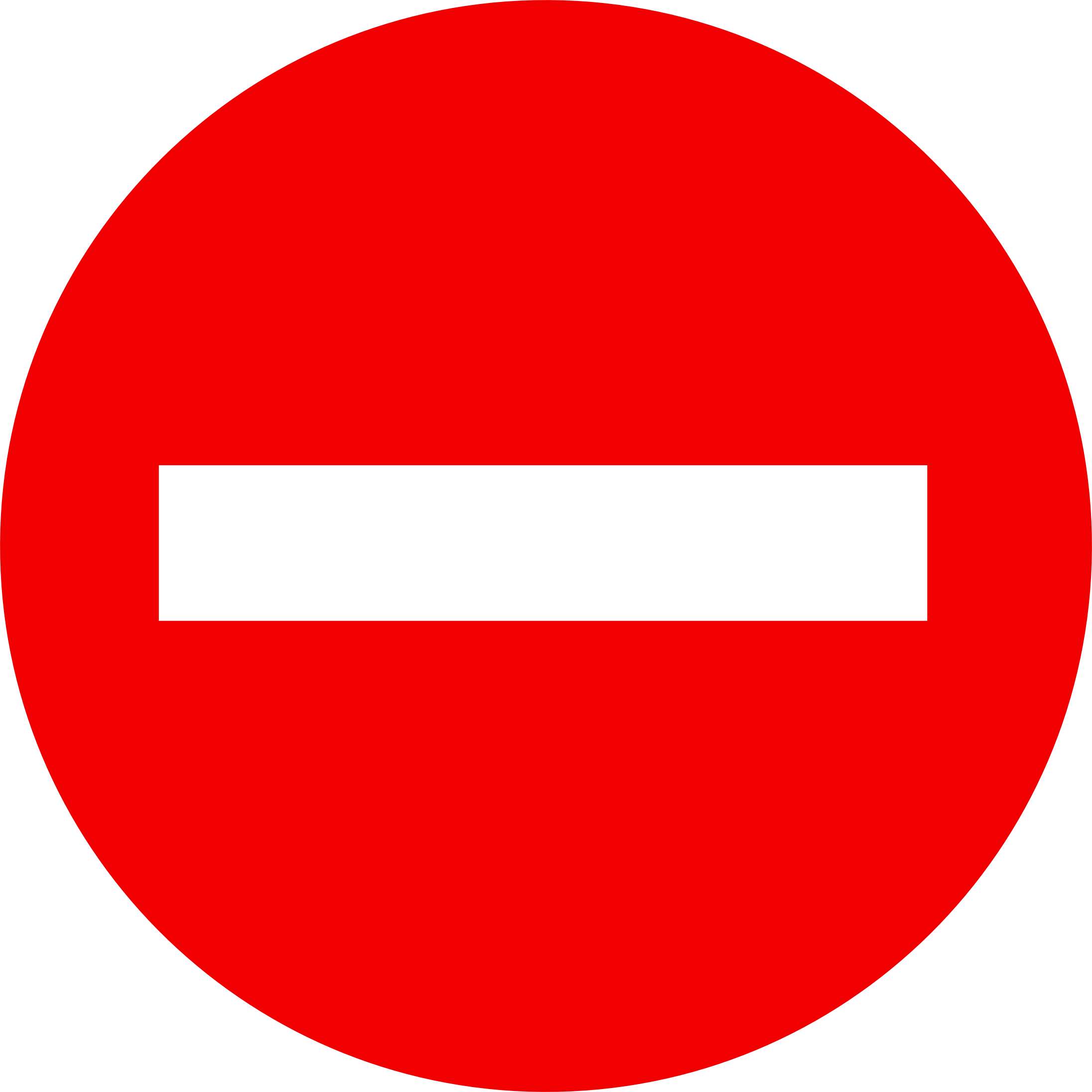 No entry sign blocked. Clipart road icon