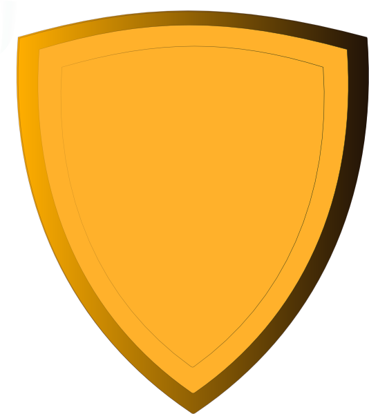 Gold clip art at. Clipart shield file