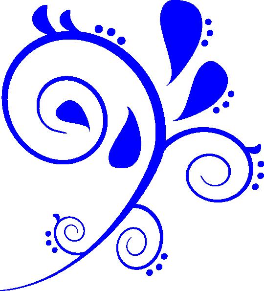 Swirl designs png free. Corner clipart royal blue