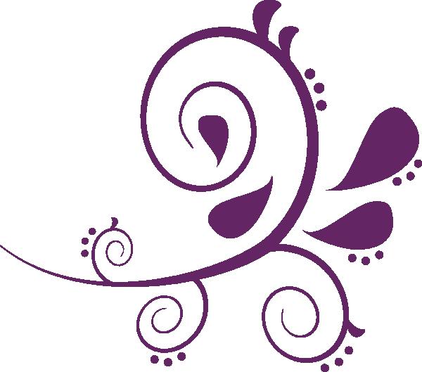 Filigree clipart separator. Purple swirl frame clip