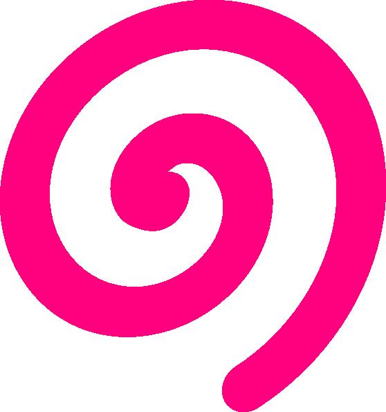 Spiral clip art at. Film clipart pink