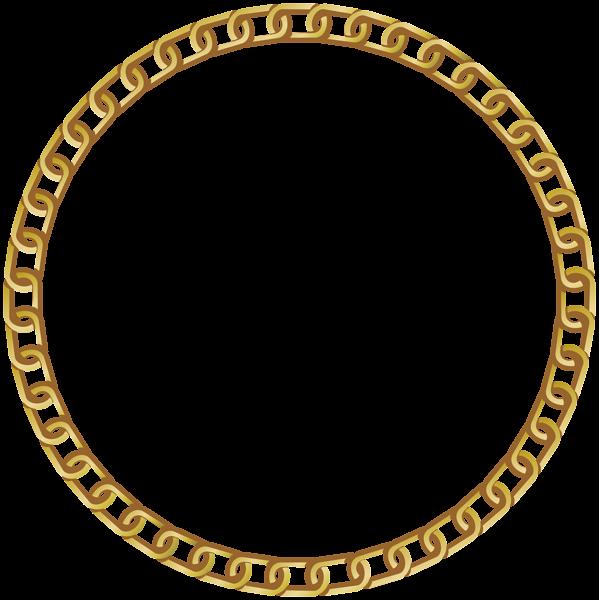 Dot clipart round. Frame gold transparent png