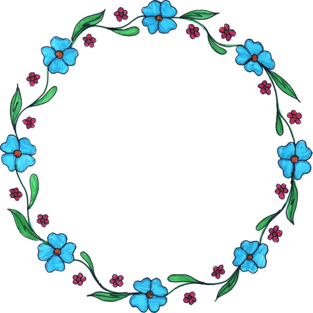 flower drawing transparent. Circle frame png