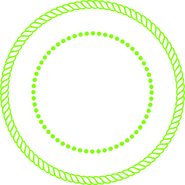 Clipart circle vector. Lime green clip art