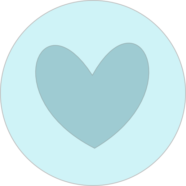 Clipart water circle. Heart in blue clip