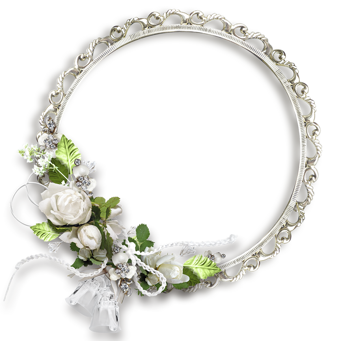 White round flowers transparent. Patience clipart border