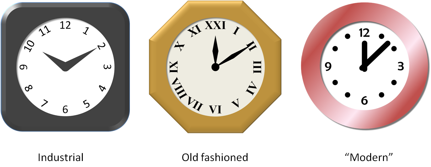 Clipart clock 12 am. Drawing in powerpoint icons