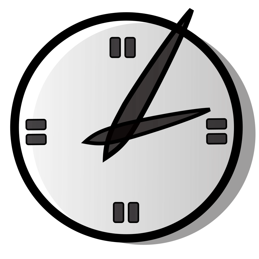Clock clipart number. Digital analog pencil and