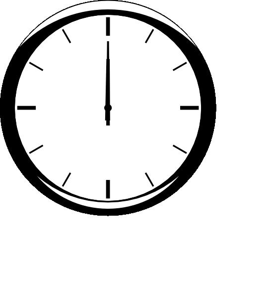 analog clip art. Clipart clock 12 am