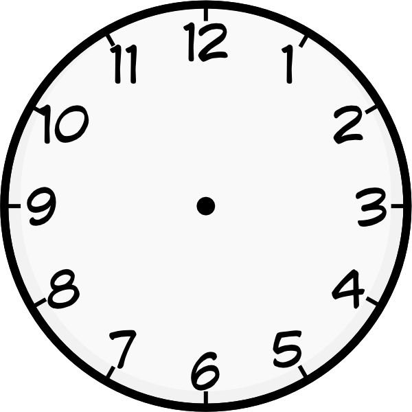 Clock template printable purzen. Clocks clipart time management