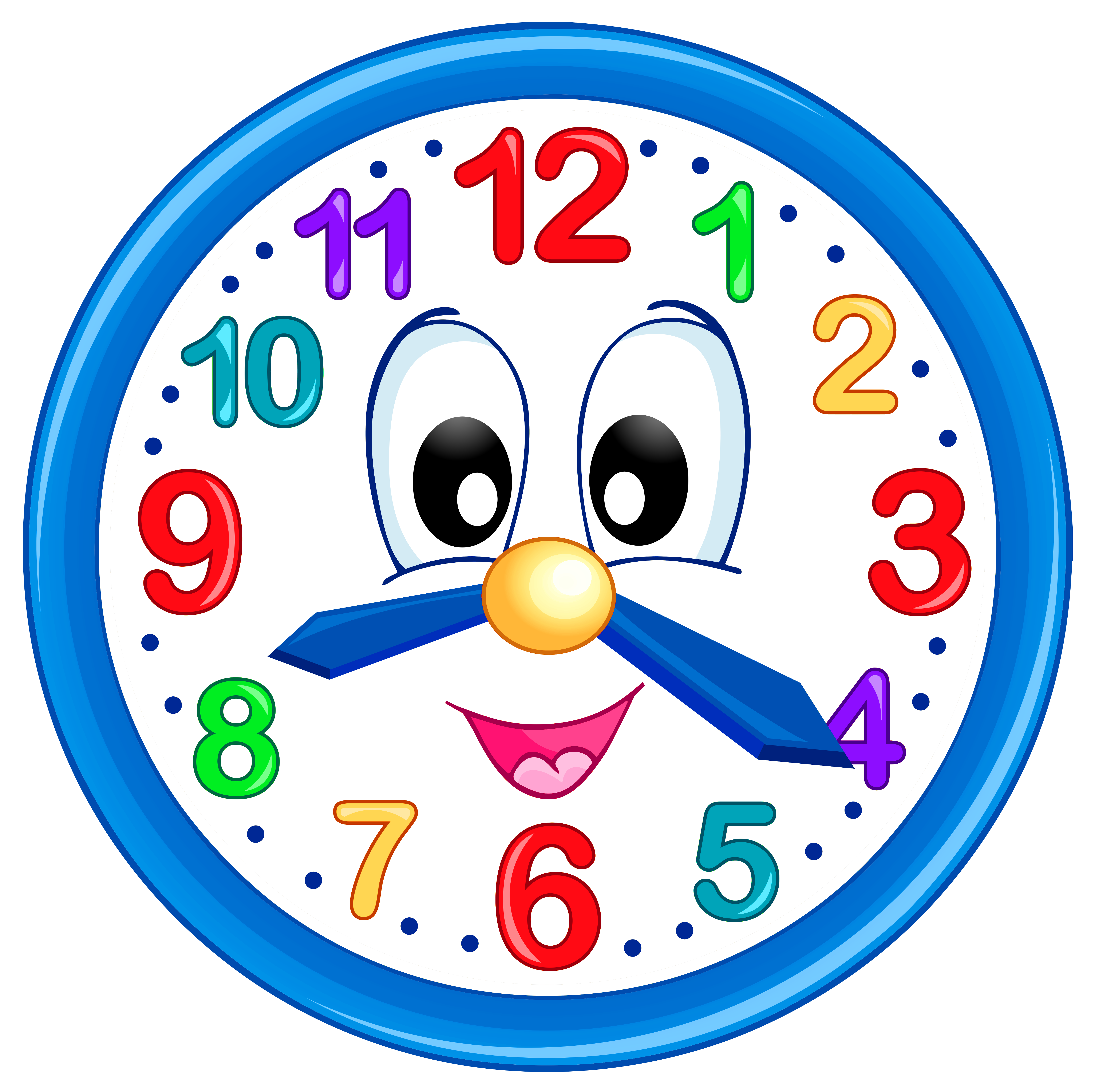 Clipart clock. Cute png clip art