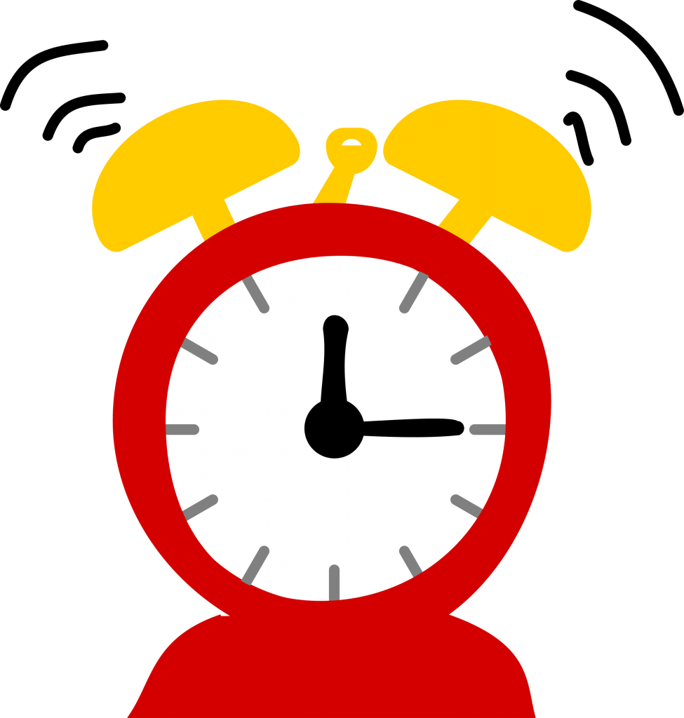 Home care errand services. Clocks clipart time management