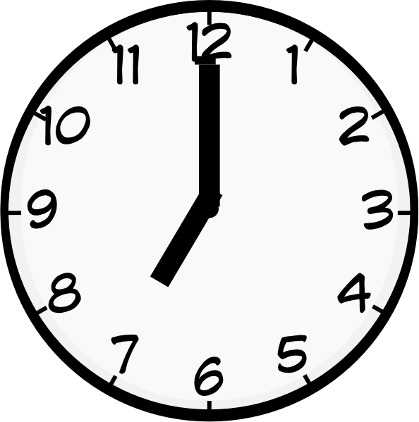Pm pencil and in. Clock clipart noon