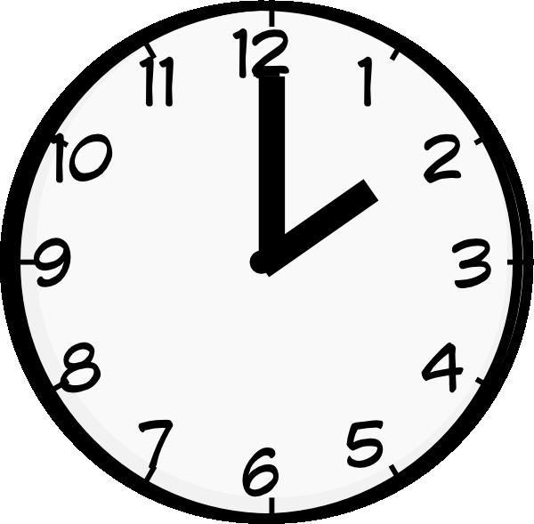 Clipart clock 7 o clock.  clip art at