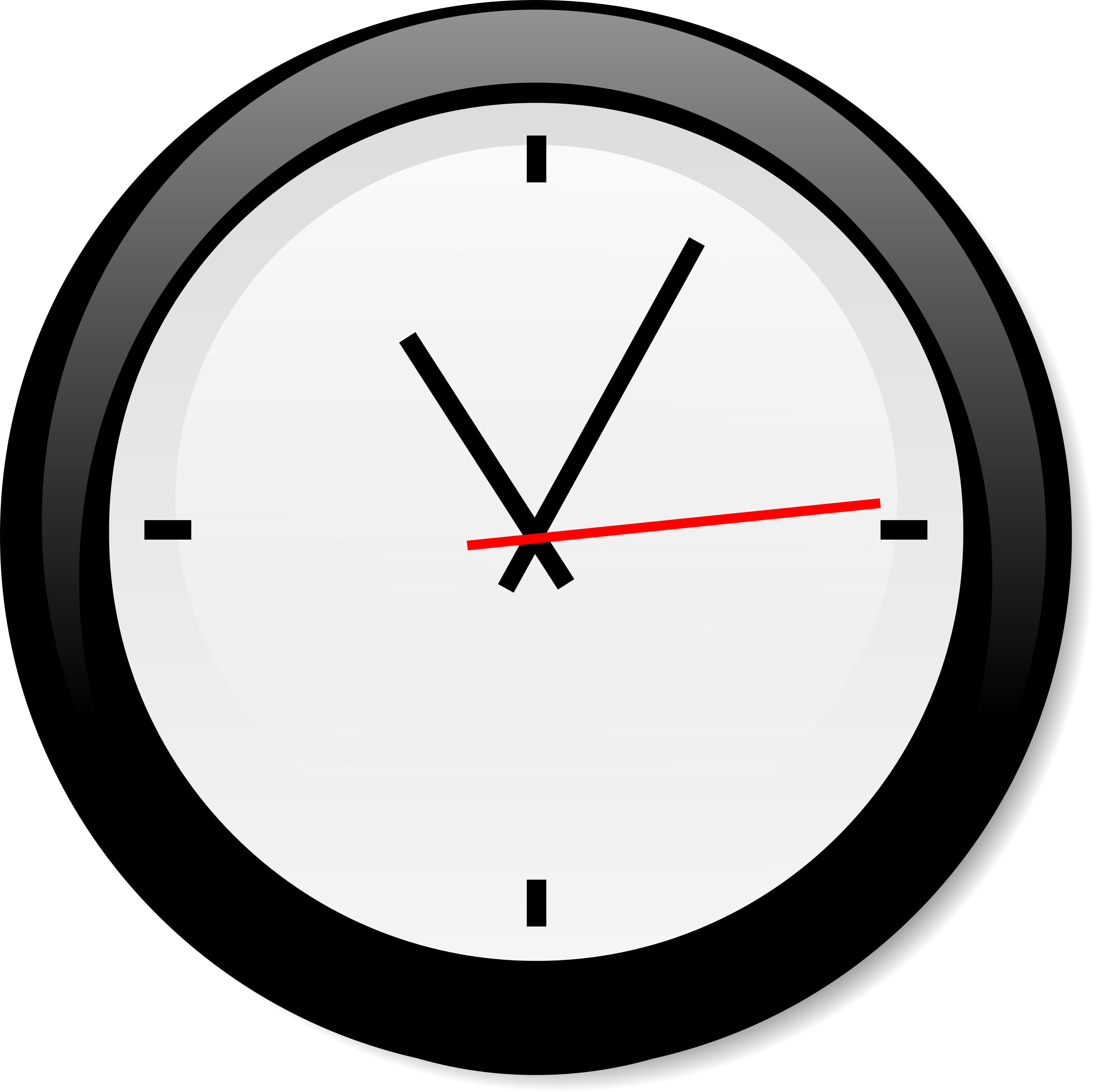 Oval pencil and in. Clock clipart 7 o clock