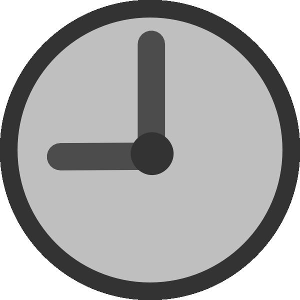 Clipart clock 7 o clock. Gray pencil and in
