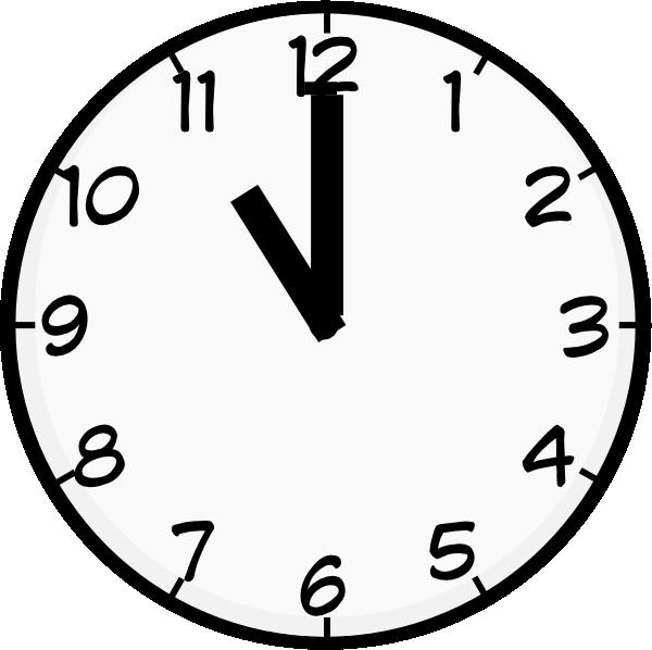 clip art at. Clipart clock 7 o clock