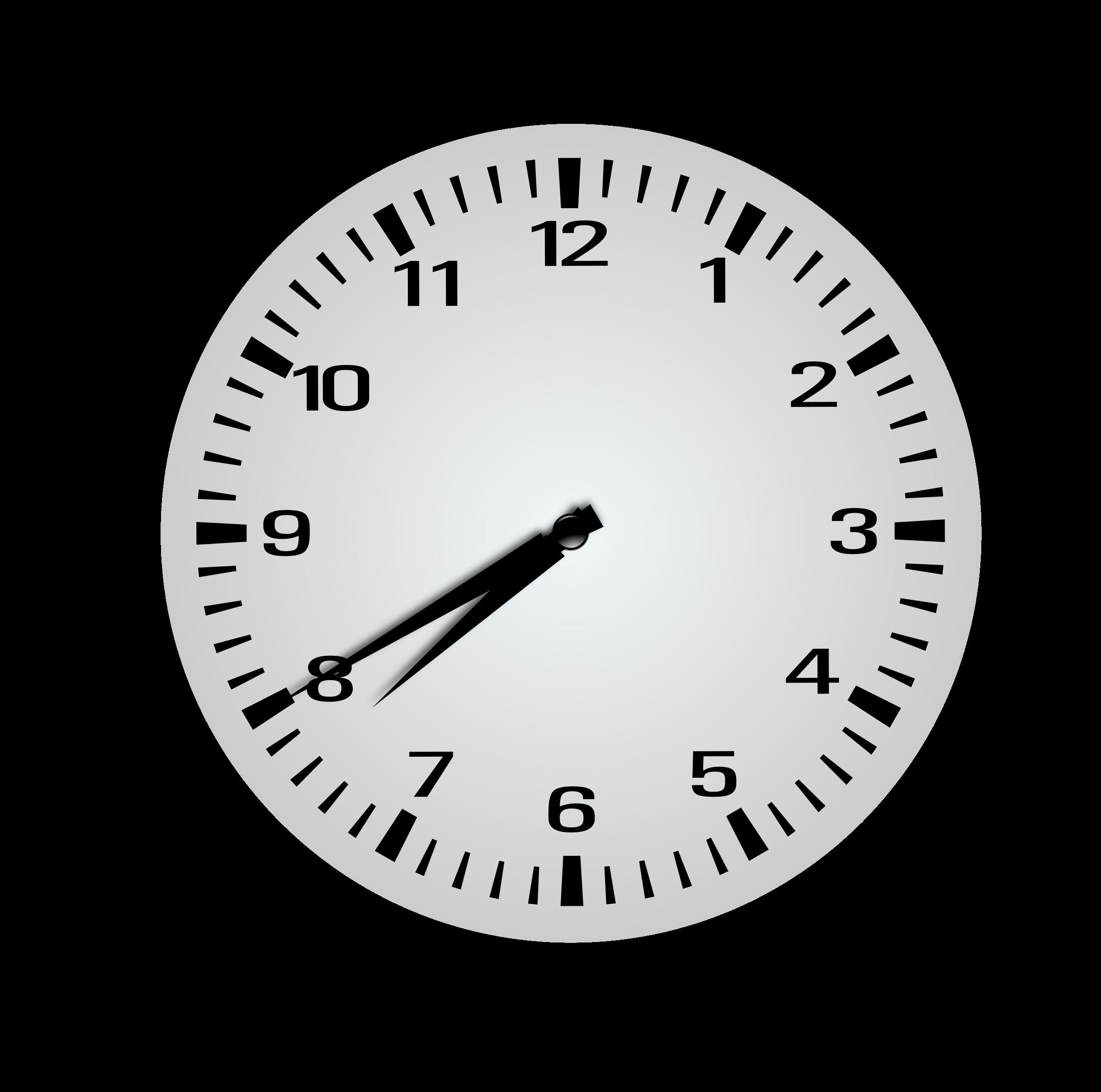 Clock clipart 7 o clock. Twenty minutes before eight