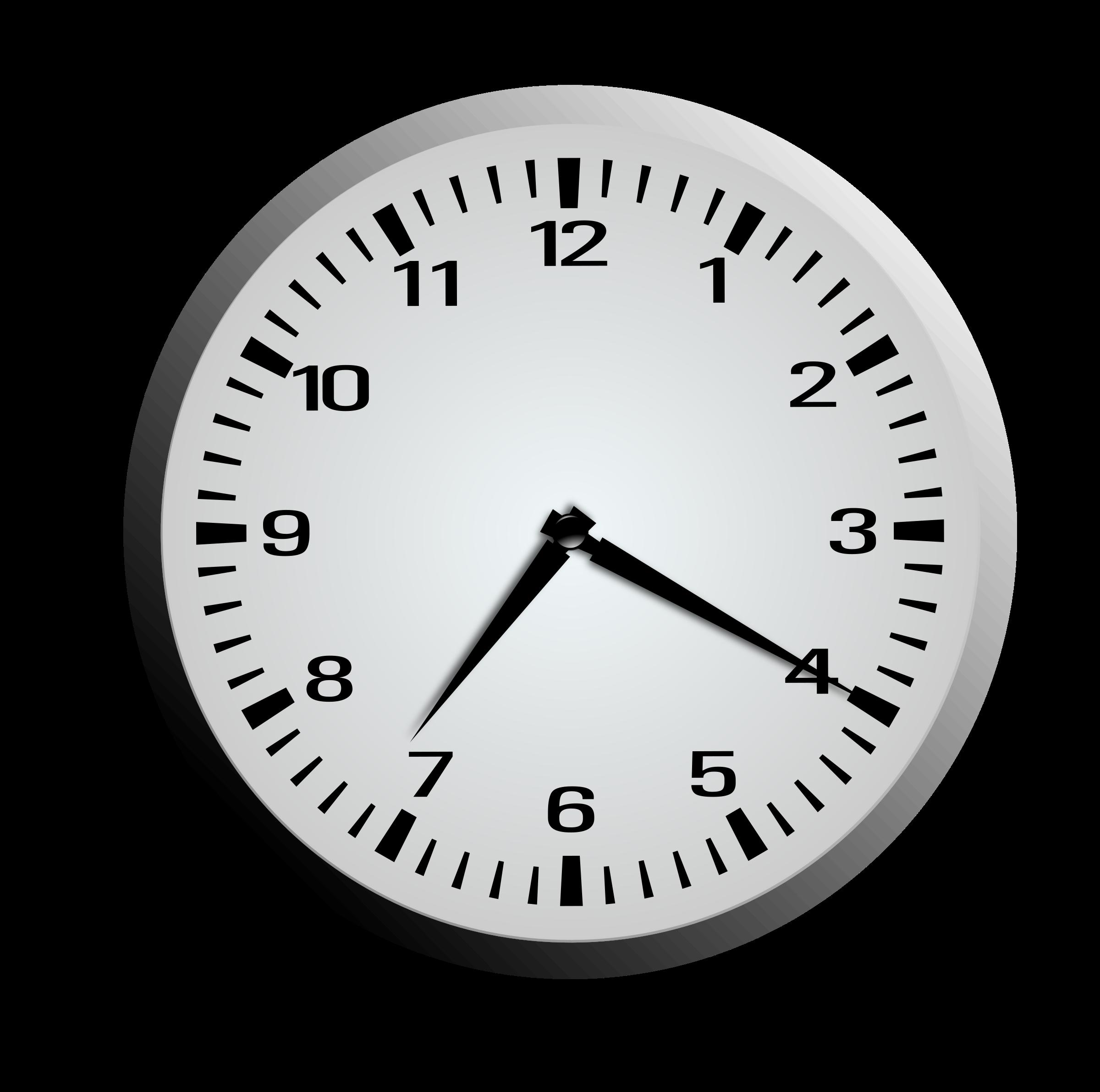 Twenty minutes after seven. Clock clipart 7 o clock