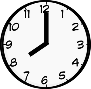 Images of free download. Clipart clock 8 am