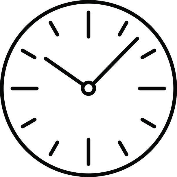 A clipart clock. Dial clip art library