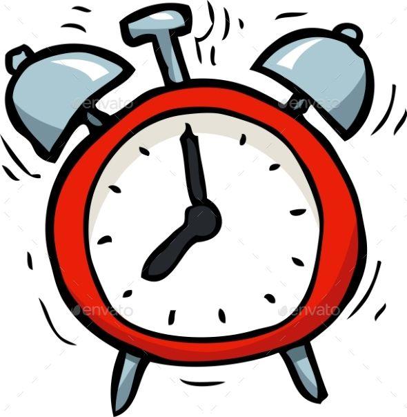 Clocks clipart alarm. Cartoon doodle clock