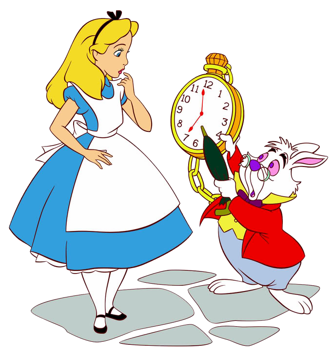 Clock clipart alice in wonderland rabbit.  collection of white