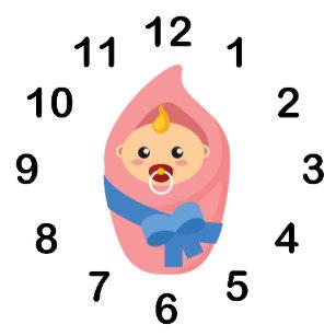 Clocks clipart baby. Cartoon cute wall zazzle