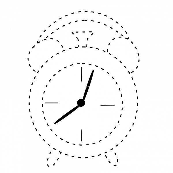 Clock clipart school. Back to tracing anastasiya