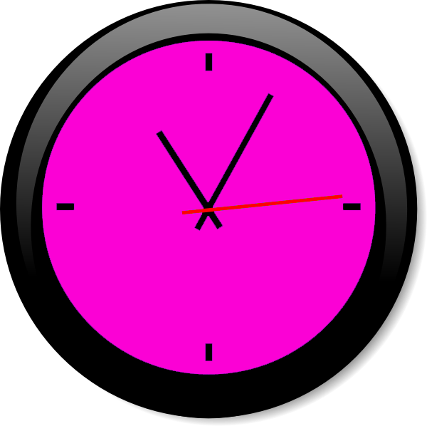 Pink a free images. Clock clipart purple
