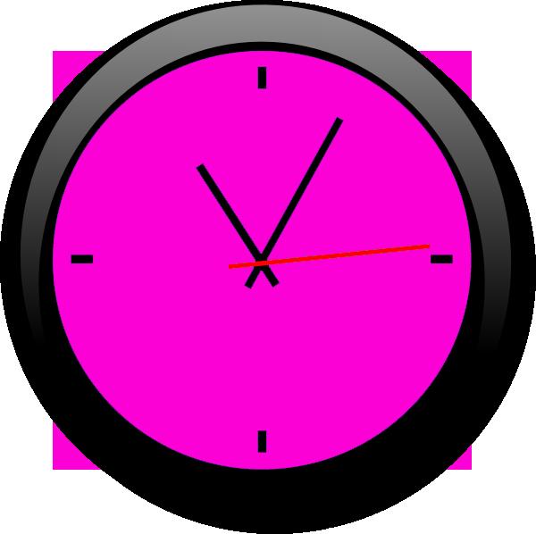 Clocks clipart back. Clock pink a free