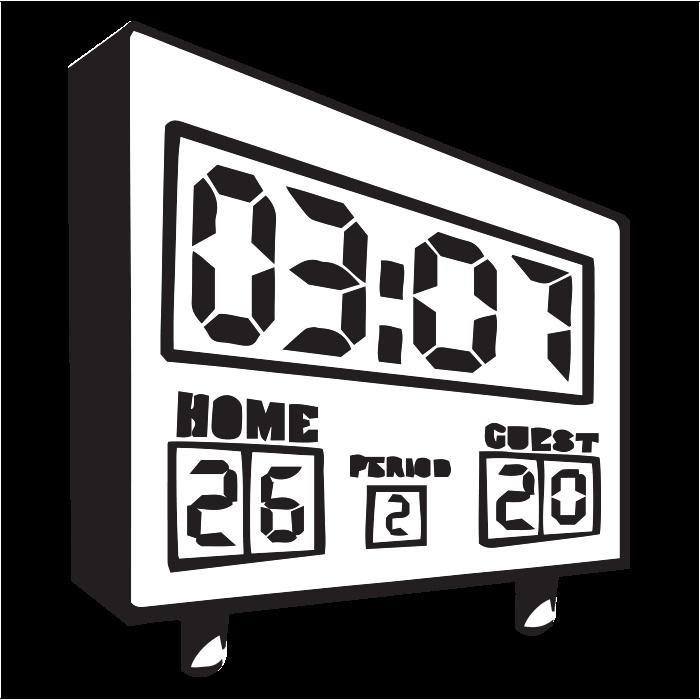 Clock clipart basketball. Pickplucker live scoring