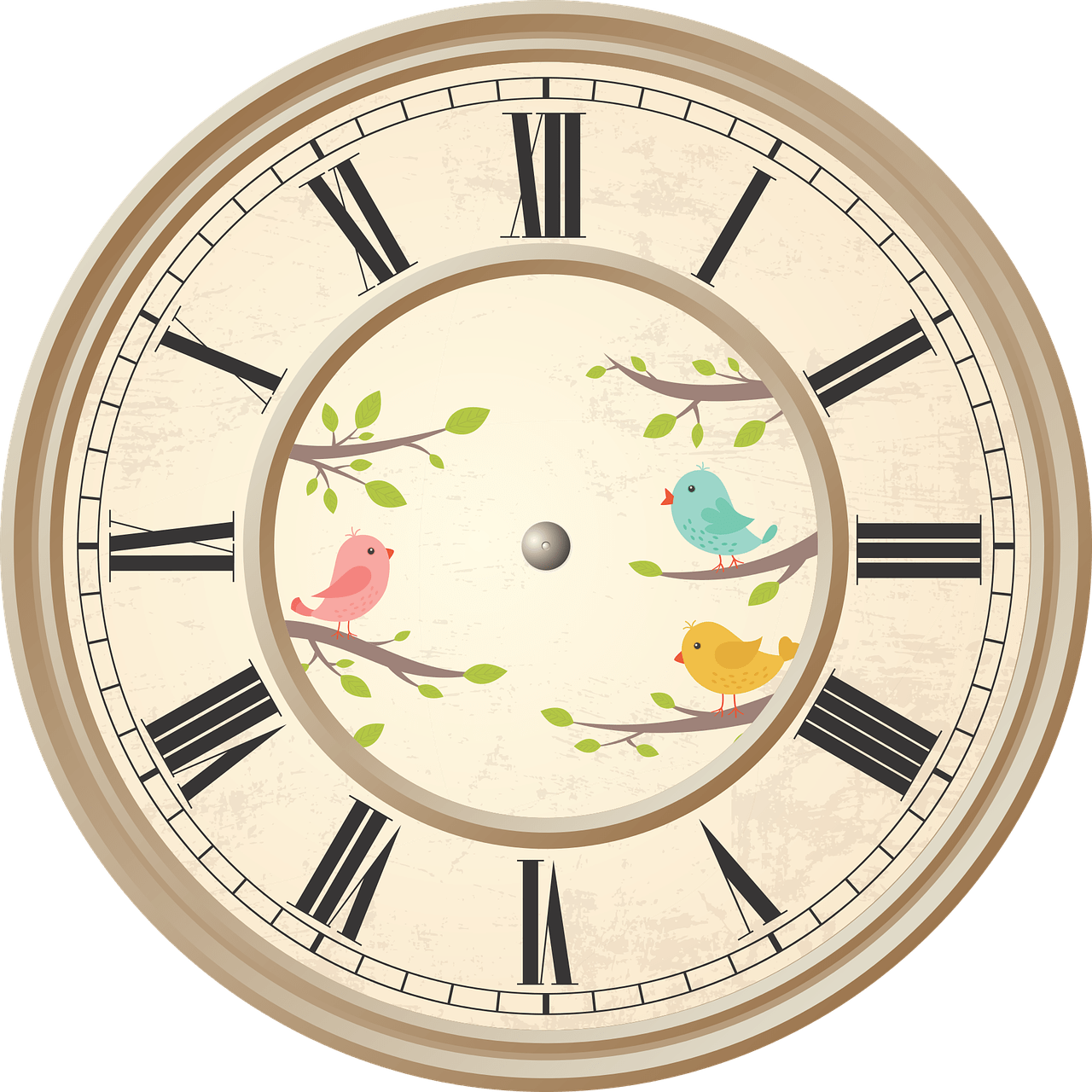 Clock clipart roman numerals. Birds transparent png stickpng