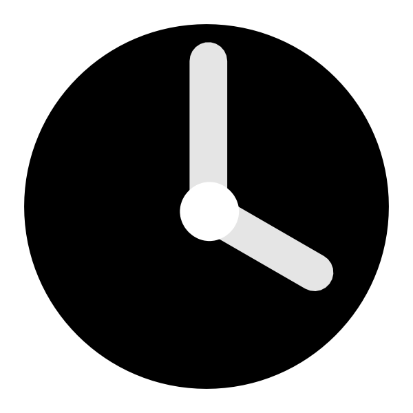 Clip art at clker. Clock clipart black and white