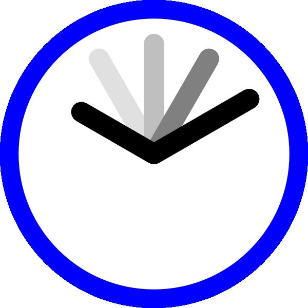 Clock clipart blue. Clip art at clker