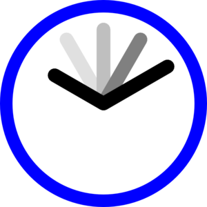 Clip art at clker. Clipart clock blue